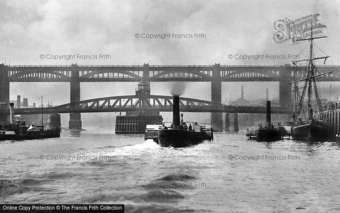 Photo of Newcastle Upon Tyne, High Level and Swing Bridge 1890, ref. N16311