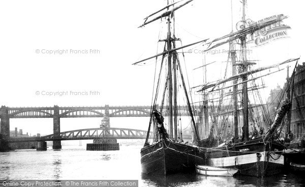 Photo of Newcastle Upon Tyne, High Level and Swing Bridge 1890, ref. N16318