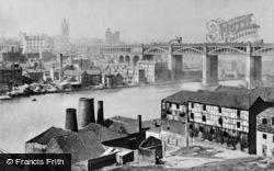 Newcastle Upon Tyne, High Level Bridge From Rabbit Banks c.1890