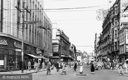 Newcastle Upon Tyne, Northumberland Street c.1955