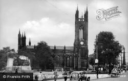 Newcastle Upon Tyne, St Thomas' Church c.1955
