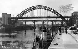 Newcastle Upon Tyne, The Bridges c.1955