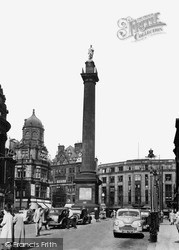 Newcastle Upon Tyne, The Earl Grey Monument c.1955