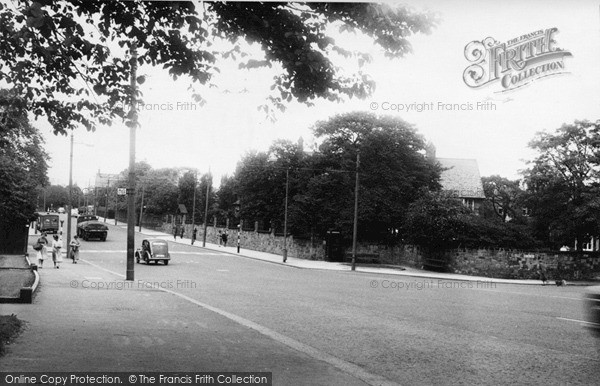 Photo of Newcastle Upon Tyne, the Great North Road, Grange Park c1955, ref. N16505