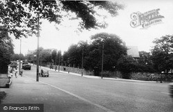 Newcastle Upon Tyne, The Great North Road, Grange Park c.1955
