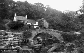 Newcastle upon Tyne, the Mill and Bridge, Jesmond Dene 1888