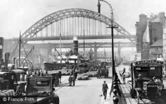 Newcastle upon Tyne, the Quayside 1928
