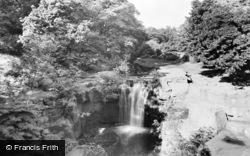 Newcastle Upon Tyne, The Waterfall, Jesmond Dene c.1950