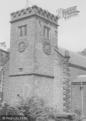Newchurch In Pendle, The Church Showing The 'eye Of God' c.1960