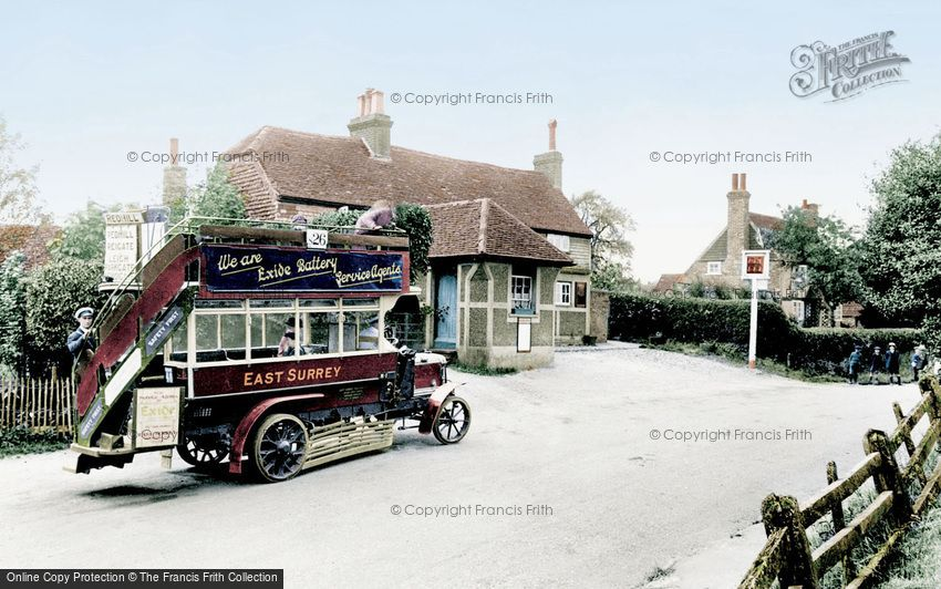 Newdigate, a Bus by the Six Bells 1924