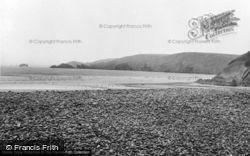 Newgale, The Pebbles And Beach c.1955