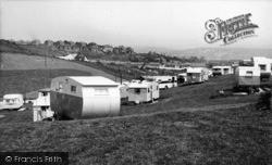 Newhaven, A Caravan Site c.1960