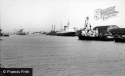 Newhaven, Harbour Traffic c.1960