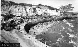 Newhaven, The Beach And Cliffs c.1965