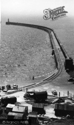 Newhaven, The Breakwater c.1960