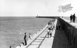 Newhaven, The Breakwater c.1965