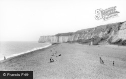 Newhaven, The Cliffs From Breakwater c.1960