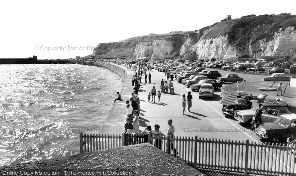 Newhaven, the Promenade at high tide c1965