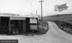 Newhaven, The Shop, Meeching Court Farm Caravan Site c.1960