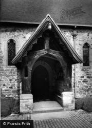 Newick, St Mary's Church Porch c.1965