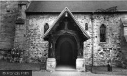 Newick, The Porch, Parish Church Of St Mary c.1965