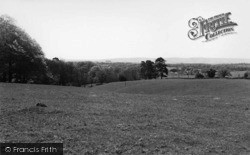 Newick, The South Downs From Font Hill c.1960