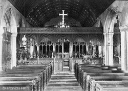 Newlyn East, Church Interior c.1900, St Newlyn East