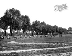 Newmarket, Horses At Exercise 1922
