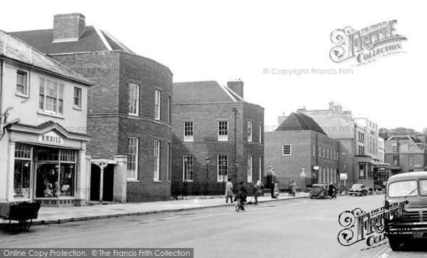 Photo of Newmarket, Jockey Club And The Post Office c.1955