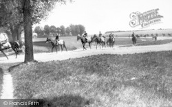 Newmarket, Racehorses At Exercise 1929