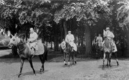 Newmarket, Racehorses Exercising c1955