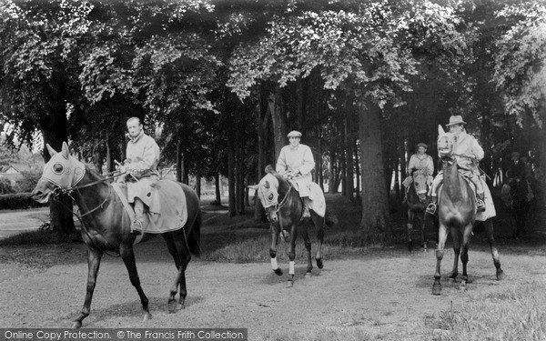 Photo of Newmarket, Racehorses Exercising c1955