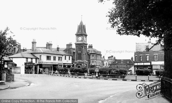 Photo of Newmarket, The Jubilee Clock Tower c.1955