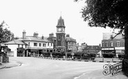 Newmarket, the Jubilee Clock Tower c1955