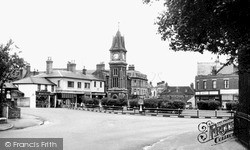 Newmarket, The Jubilee Clock Tower c.1955