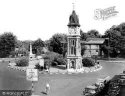 Newmarket, The Jubilee Clock Tower c.1960