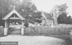 St Nicholas Church And Lych Gate c.1955, Newnham
