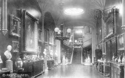 Aqualate Hall, The Gallery 1898, Newport