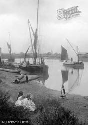 Newport, Boats On The Medina 1913
