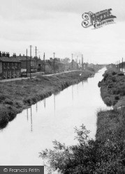 Canal Side c.1955, Newport