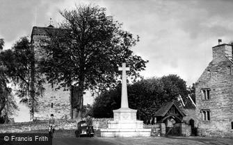 Newport, Christchurch, Church House and War Memorial c1955