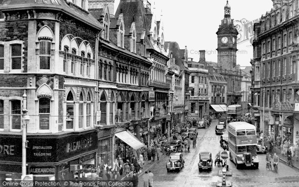 Photo of Newport, Commercial Street c1955, ref. n25141
