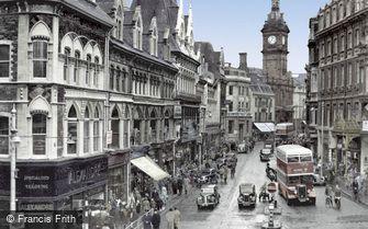 Newport, Commercial Street c1955