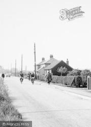 Cycling Home, Station Lane c.1960, Newport