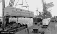 Newport, Floating Crane c.1955