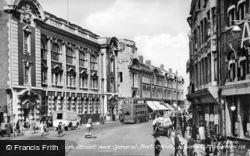 Newport, High Street And General Post Office c.1955