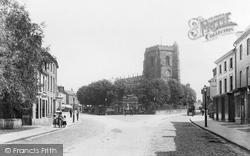 High Street And St Nicholas's Church 1898, Newport