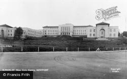 Newport, New Civic Centre c.1950