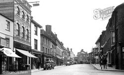 Newport Pagnell, High Street 1955