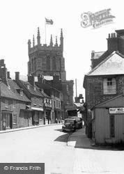 High Street And Church Of St Peter And St Paul 1950, Newport Pagnell